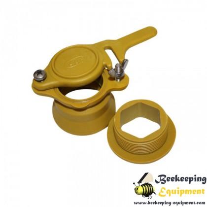 Honey valve plastic 4cm yellow-white