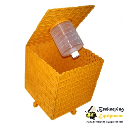 Transport box bees with feeder