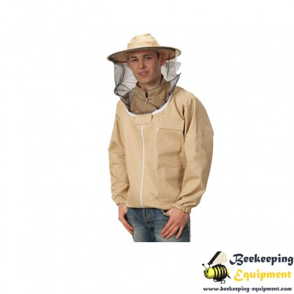 Beekeeping sweatshirt with hat and zipper