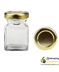 Hexagonal glass jar 212 ml