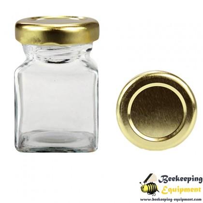 Hexagonal glass jar 212 ml