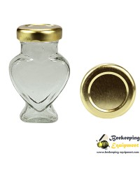 Glass jar heart 106 ml