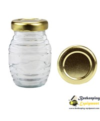 Glass jar stripy 106 ml