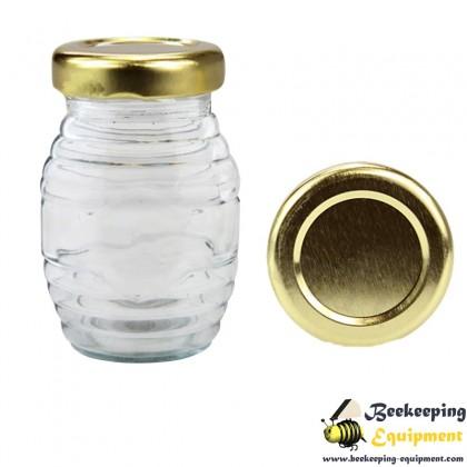 Glass jar stripy 106 ml